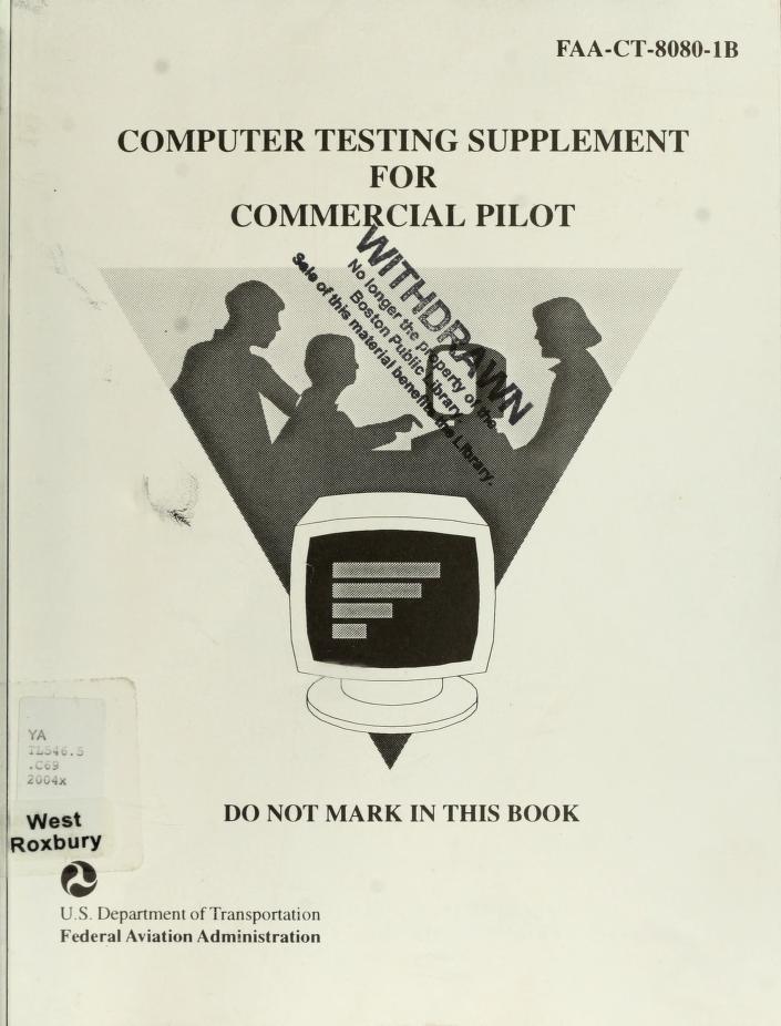 Commercial Pilot Test Prep 2005 by Aviation Supplies & Academics