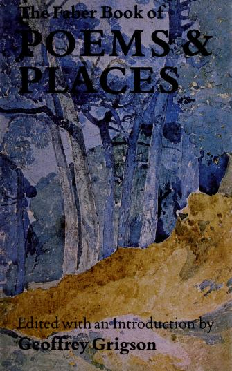 Cover of: Faber Book of Poems and Places | Geoggrey Grigson