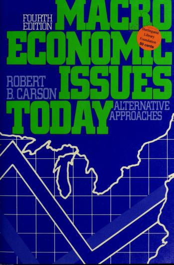 Cover of: Macroeconomic issues today | Robert Barry Carson