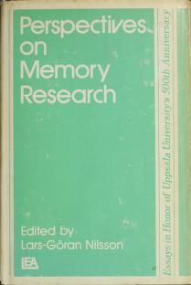 Cover of: Perspectives on memory research | Conference on Perspectives on Memory Research University of Uppsala 1977.