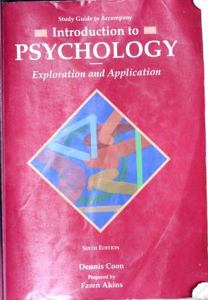 Cover of: Study guide to accompany Introduction to psychology, exploration and application | Faren R. Akins