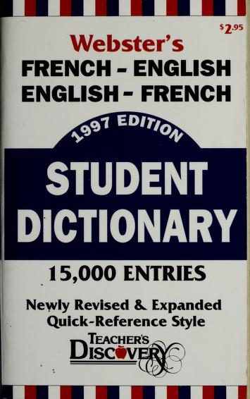 Cover of: Webster's French/English, Francais/Anglais dictionary  