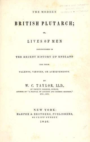The modern British Plutarch