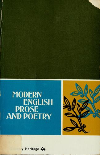 Modern English prose and poetry by Nelda B. Kubat