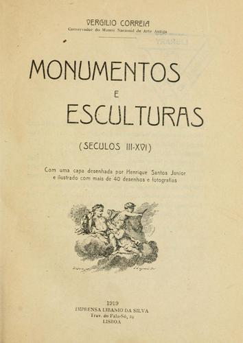 Monumentos e esculturas (seculos III-XVI)