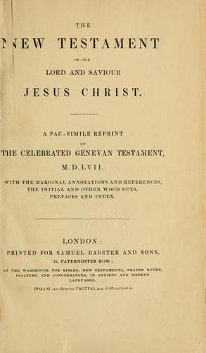 The New Testament of our Lord and Saviour Jesus Christ by with the original and other woodcuts.