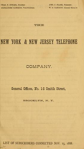 The New York & New Jersey Telephone  Company by New York and New Jersey Telephone Company