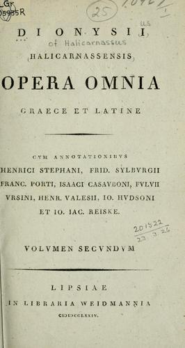 Opera omnia, Graece et Latine