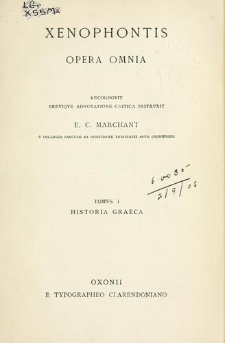 Opera omnia by Xenophon