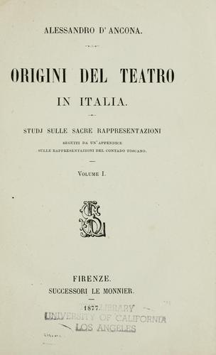 Origini del teatro in Italia