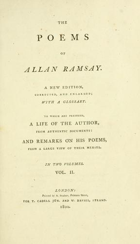 The poems of Allan Ramsay by Allan Ramsay