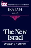 The new Israel by George Angus Fulton Knight