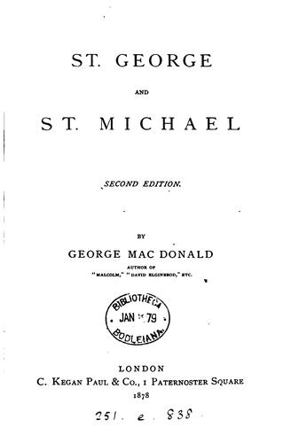 St. George and st. Michael by George MacDonald