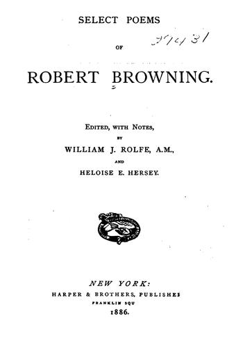 Select Poems of Robert Browning by Robert Browning