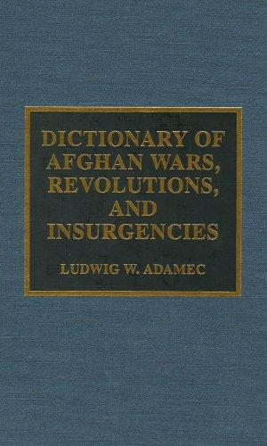 Dictionary of Afghan wars, revolutions, and insurgencies by Ludwig W. Adamec