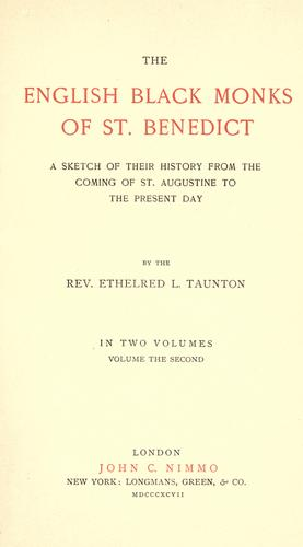 The English black monks of St. Benédict