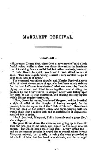 Margaret Percival, by the author of 'Amy Herbert', ed. by W. Sewell by Elizabeth Missing Sewell