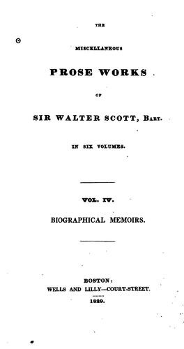 The Miscellaneous Prose Works of Sir Walter Scott