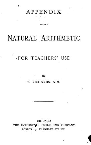 The Natural Arithmetic by Zalmon Richards
