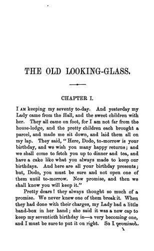 The old looking-glass; or, Mrs. Dorothy Cope's recollections of service by Maria Louisa Charlesworth