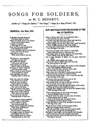 Songs for soldiers by William Cox Bennett