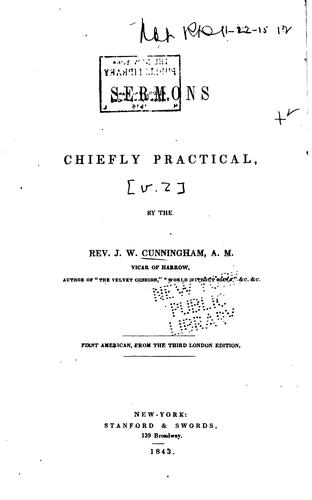 Sermons Chiefly Practical by John William Cunningham