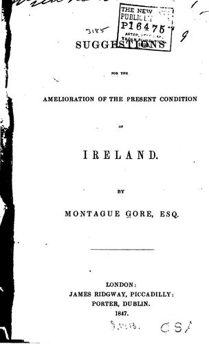 Suggestions for the Amelioration of the Present Condition of Ireland by Montague Gore