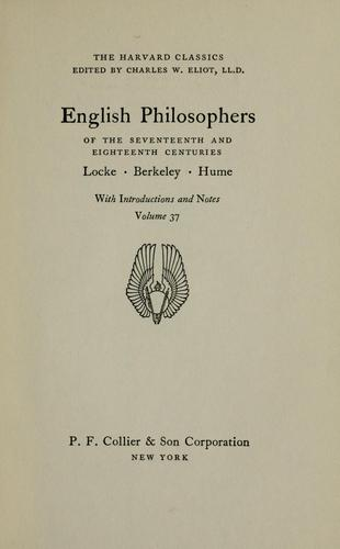 English philosophers of the seventeenth and eighteenth centuries by John Locke