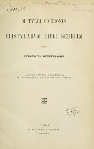 Epistularum libri sedecim
