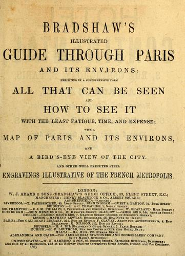 Bradshaw's illustrated guide through Paris and its environs by