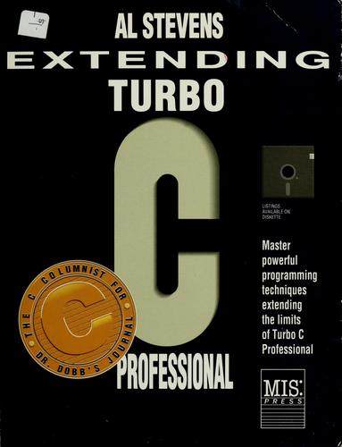 Extending Turbo C Professional by Al Stevens