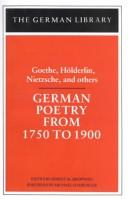 German poetry of the nineteenth century by