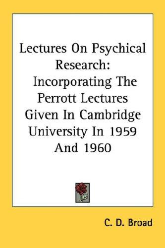 Lectures on psychical research by Broad, C. D.