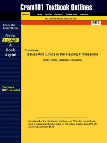 Issues and Ethics in the Helping Professions by Corey
