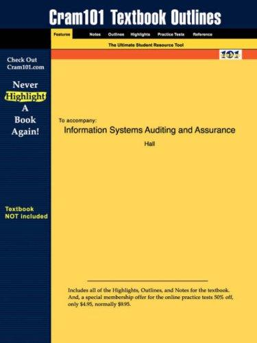 Information Systems Auditing and Assurance by Hall