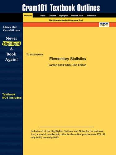 Elementary Statistics (Cram101 Textbook Outlines - Textbook NOT Included) by Ron Larson