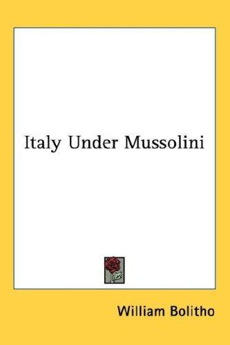 Italy Under Mussolini