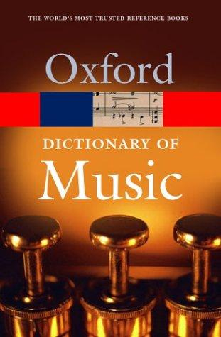 The concise Oxford dictionary of music by Kennedy, Michael