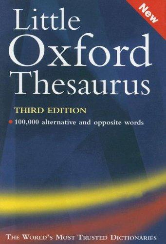 Little Oxford Thesaurus by Maurice Waite