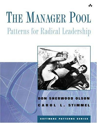 The Manager Pool by Don Sherwood Olson, Carol L. Stimmel