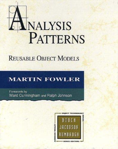 Analysis Patterns by Martin Fowler