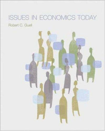 Issues in Economics Today by Robert Guell