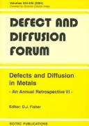 Defects and Diffusion in Metals