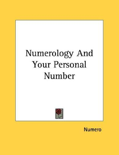 Numerology And Your Personal Number by Numero