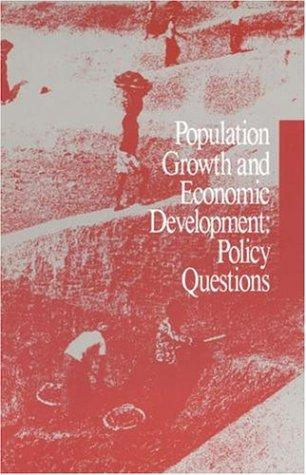 Population Growth and Economic Development by National Research Council.