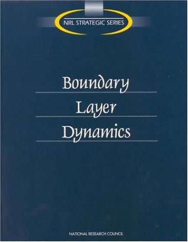 Boundary Layer Dynamics by National Research Council.